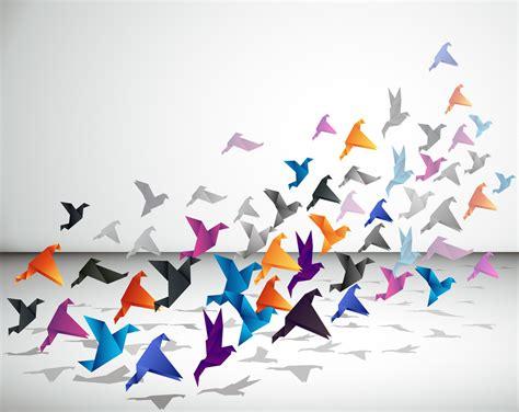 Origami Birds Flying - 鳥 gatag フリーイラスト素材集