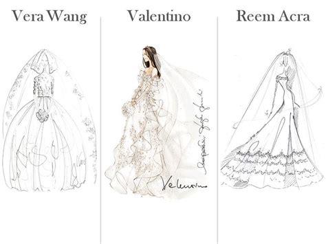 Gaun Dress White Graffiti Flower S Import Original vera wang valentino and reem acra bridal sketches for kate middleton