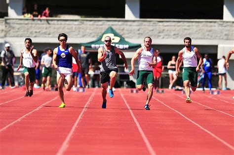 track and field track and field team is bested by uc santa barbara in blue