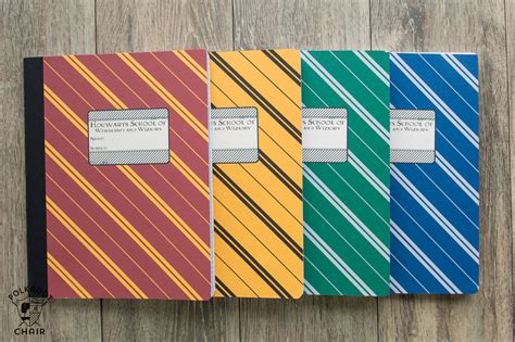 harry potter hogwarts ruled notebook books diy hogwarts inspired house notebooks harry potter craft