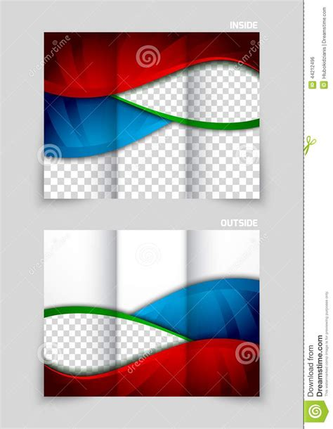 tri fold brochure layout design template tri fold brochure template design stock vector image