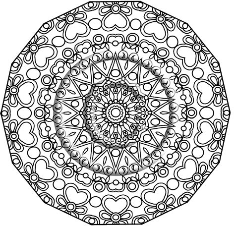 zentangle mandala coloring pages printable download coloring page hand drawn zentangle