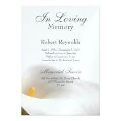 Memorial Service Notice Template memorial announcement 5 quot x 7 quot invitation card zazzle