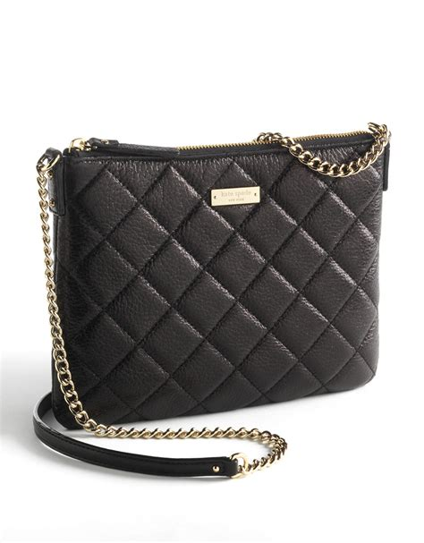Kate Spade Black Quilted Purse by Kate Spade Ginnie Quilted Leather Clutch Bag In Black Lyst