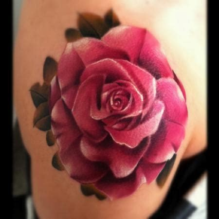 realistic rose tattoo the best flower tattoos part 10