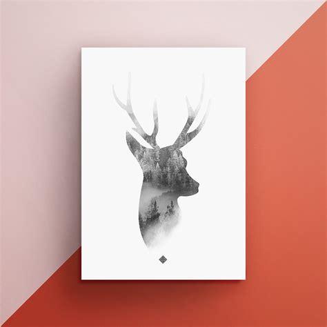 free printable wall art deer free deer wall art printable little gold pixel