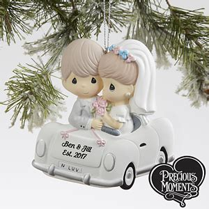 personalized just married christmas ornament wedding car