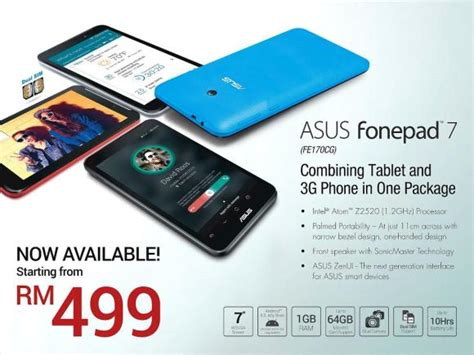 Hp Asus Rm Malaysia Asus Fonepad 7 Now Available In Malaysia From Rm 499
