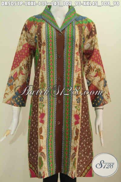 desain baju batik muslim elegan jual baju kerja batik elegan motif terkini dress batik