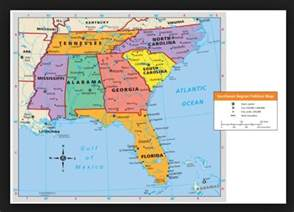 map of south east map of the southeast region of the united states write