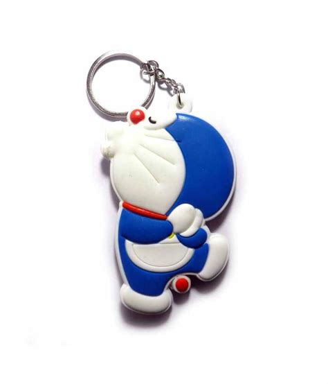 Keychain Doraemon techpro blue and white doraemon rubber keychain for kid available at snapdeal for rs 199
