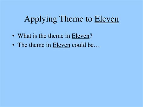 themes for short story eleven ppt elements of a story powerpoint presentation id 649157