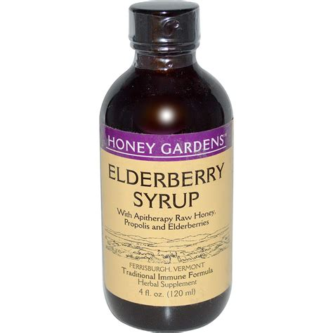 Honey Gardens by Honey Gardens Elderberry Syrup With Apitherapy Honey