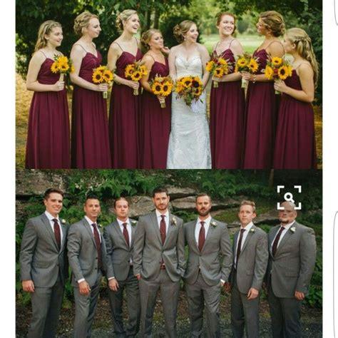 Ribbon Cullote Black Grey Grey Maroon sunflower theme wedding grey and maroon fotografia de
