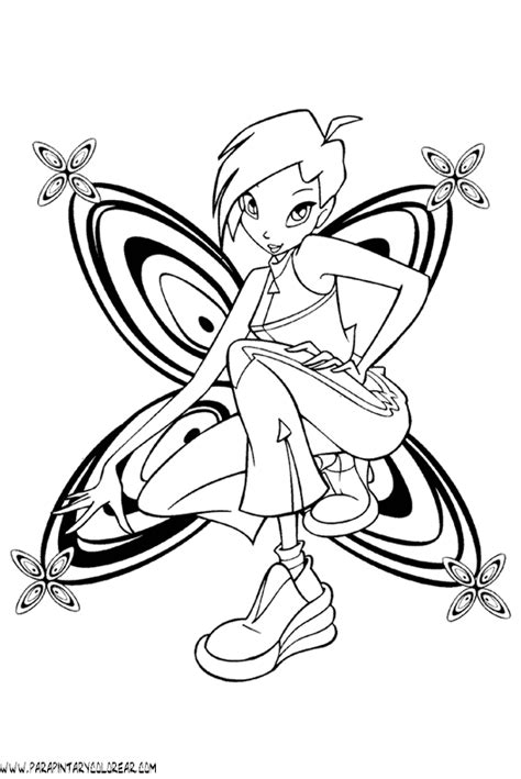 imagenes para colorear winx club dibujos para colorear de winx club 090