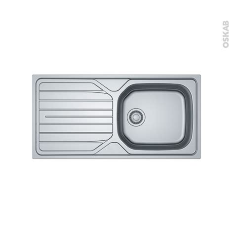 Evier Inox 1 Grand Bac by Evier De Cuisine Reno Inox Lisse 1 Grand Bac 233 Gouttoir 224