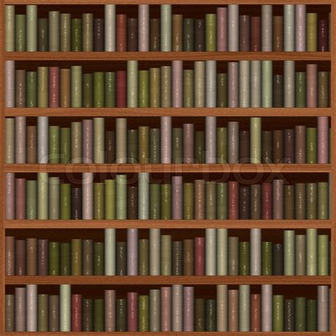 wooden bookshelf texture with books stock photo