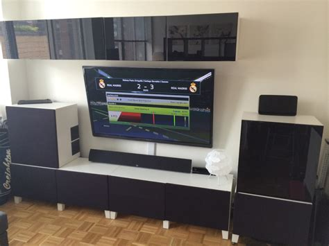 ikea scaffali besta home theater media center besta hack ikea hackers