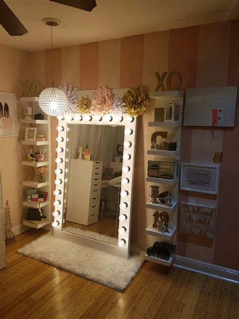 make my house makeup storage with diy style glam light my