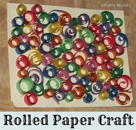 Paper Strips Crafts - rolled paper strips crafts putti s world