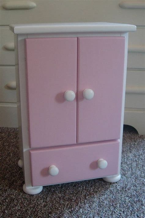 18 Inch Doll Wardrobe Armoire by Doll Armoire Doll Dresser Doll Closet For American