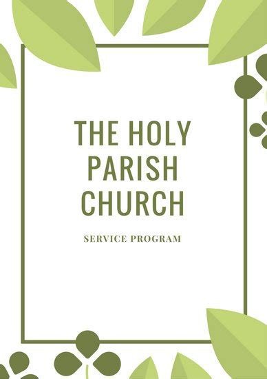 templates for church programs customize 110 church program templates canva