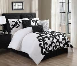 100 Cotton Comforter Sets 9 Piece Empress 100 Cotton Black White Comforter Set