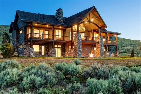 Landscape Timbers Salt Lake City Modern Luxury Homes Exterior Rustic With Log Cabin Salt