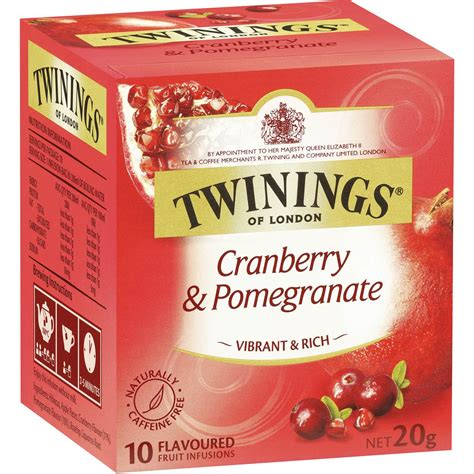 Twinings Detox Tea Woolworths by Twinings Cranberry Pomegranate Tea Bags 10pk 20g Woolworths