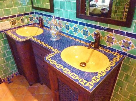 Mexican Tile Bathroom Ideas Moroccan Themed Bathroom Using Turkish Moroccan And Mexican Tiles Bathrooms Of My Dreams