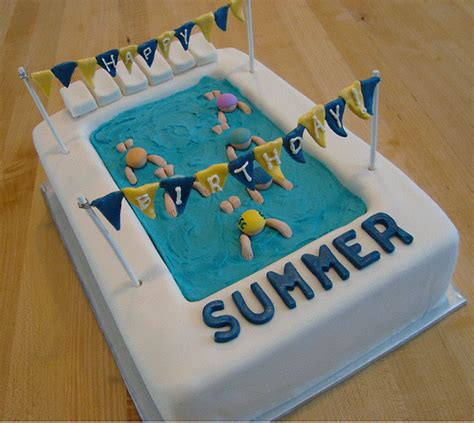 Pool Cake Decorations by Pool Cakes Swimming Pool Cakes
