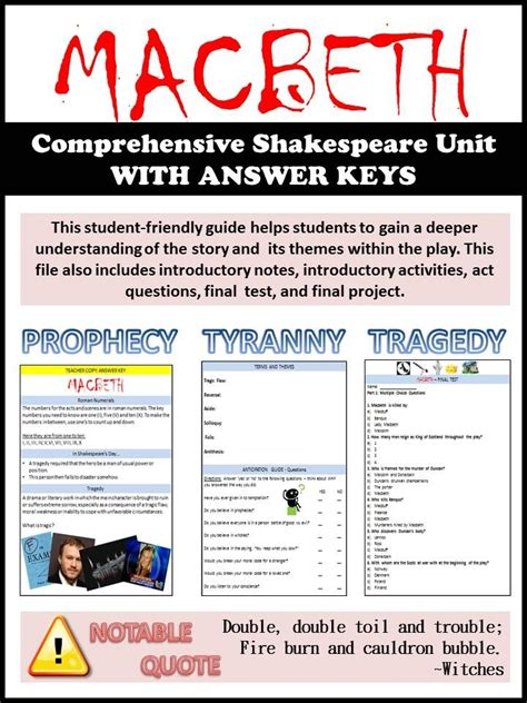 themes in literature answer key 25 best ideas about macbeth study guide on pinterest