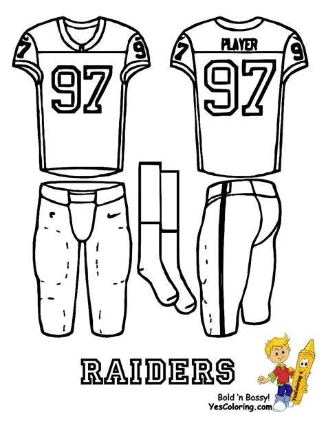 nfl jersey coloring pages attack afc football uniform printables bills chargers