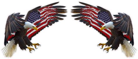 Does Walmart Sell American Eagle Gift Cards - american eagle american flag decal pair 12 quot each in size free shipping ebay