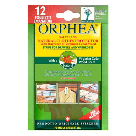 packs of 12 orphea moth repellent strips with cedar for