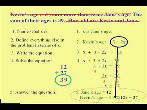 your age the small step solution to a better longer happier books beginning algebra word problem steps