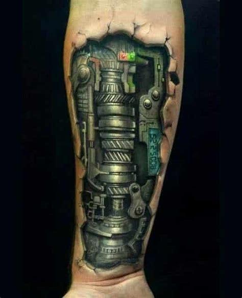 biomechanical tattoo on dark skin biomechanical tattoos for men ideas and inspiration for guys