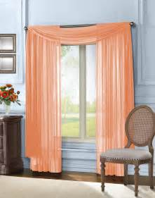 Sheer Window Valance Peach Sheer Voile Curtain Scarf Valance 216 Quot L Ebay