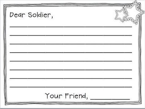 veterans day letter writing paper veteran s day writing freebies
