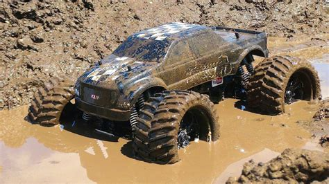 monster trucks in the mud videos rc adventures muddy monster truck smoke show