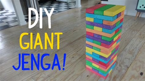 how to make backyard jenga diy giant jenga youtube