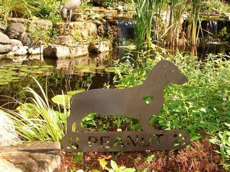 dachshund pet memorial garden stake yard ornament lawn