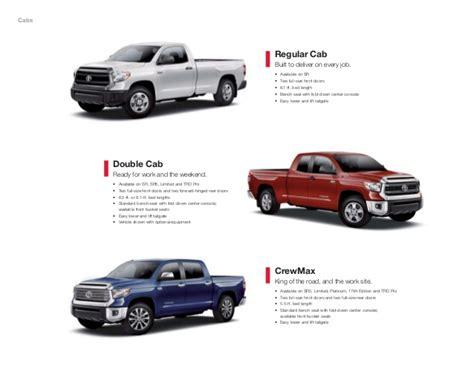 tundra bed size 2015 toyota tundra brochure vehicle details