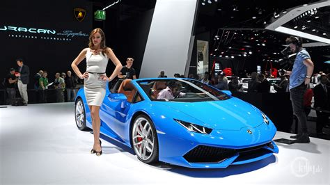car lamborghini blue germany frankfurt cars blue lamborghini at the iaa in