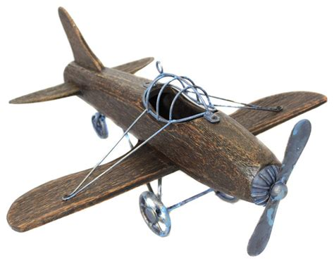 airplane home decor urban designs wooden model toy replica handcrafted