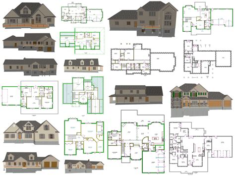 housing blueprints ez house plans
