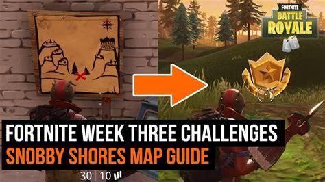 fortnite week 6 treasure map fortnite week 3 challenge snobby shores treasure map