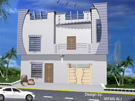 home design for 4 marla 4 marla front elevation modren plan
