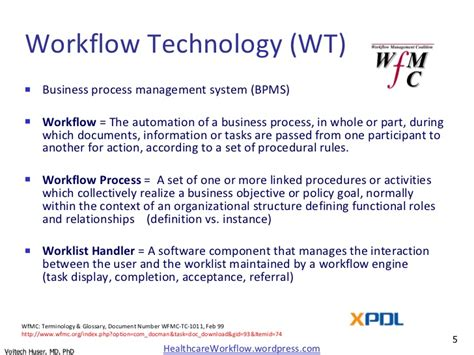 workflow technology in healthcare healthcare use of workflow engine technology with emphasis