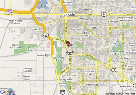 directions to lincoln ne map of days inn south lincoln lincoln